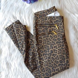 Michael Kors animal print skinny jeans